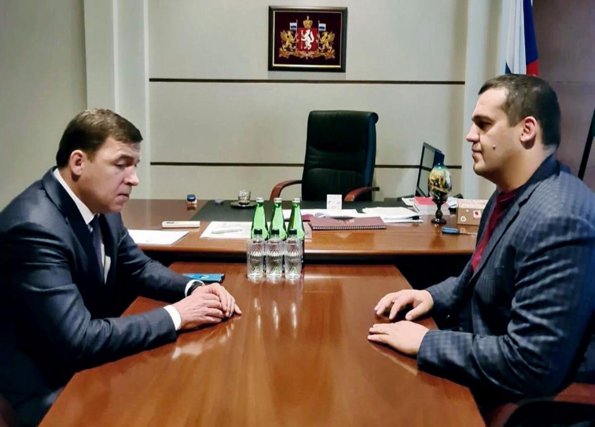 Встреча Евгения Куйвашева и Умара Кремлёва